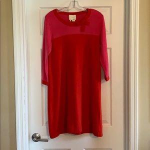 Kate Spade midi sweater dress, bow at neck, size M